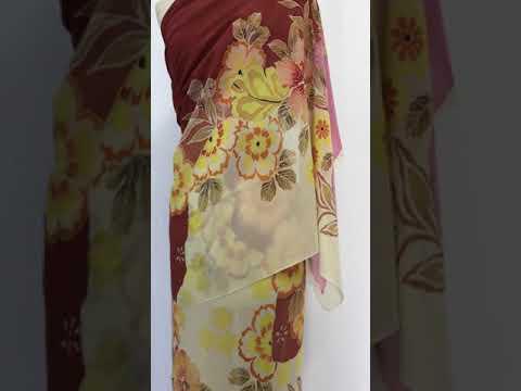 Chiffon silk batik yardage
