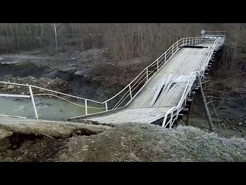В Хадыженске обрушился мост