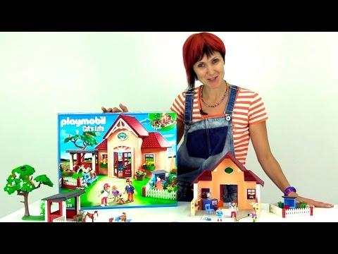 Конструктор Playmobil Toys. Строим ветклинику. Набор для сюжетно-ролевых игр. распаковка
