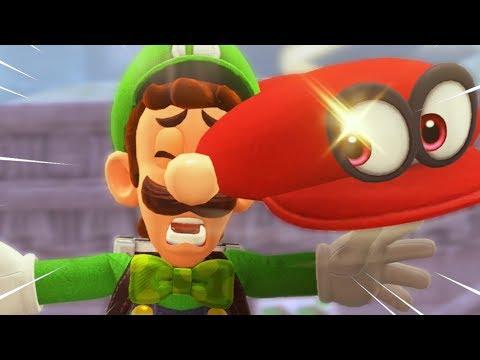 Luigi's Balloon World but some funny stuff happens