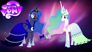 My Little Pony Transforms Princess Luna Celestia Cadance Gala Dresses
