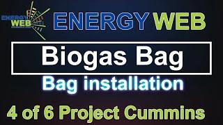 BIOGAS BAG - Manzini Biobag Installation