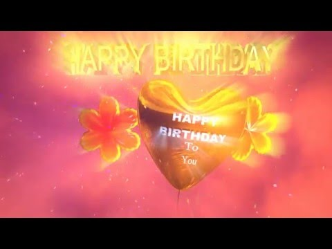 Colorful Animated Happy Birthday Song