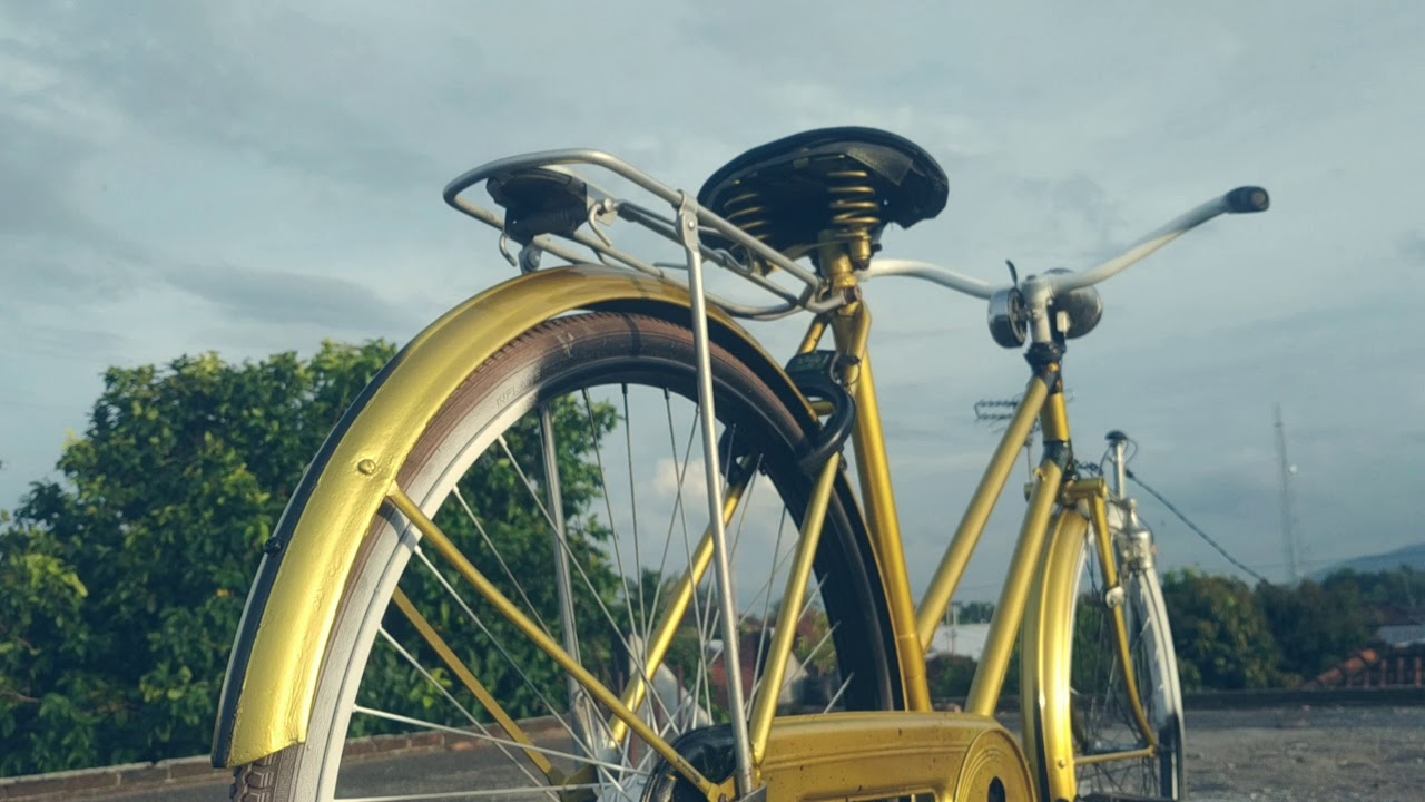 Sepeda Jengki Warna Emas Youtube