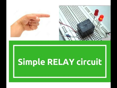 how to make simple relay circuit by electronics projects - YouTube