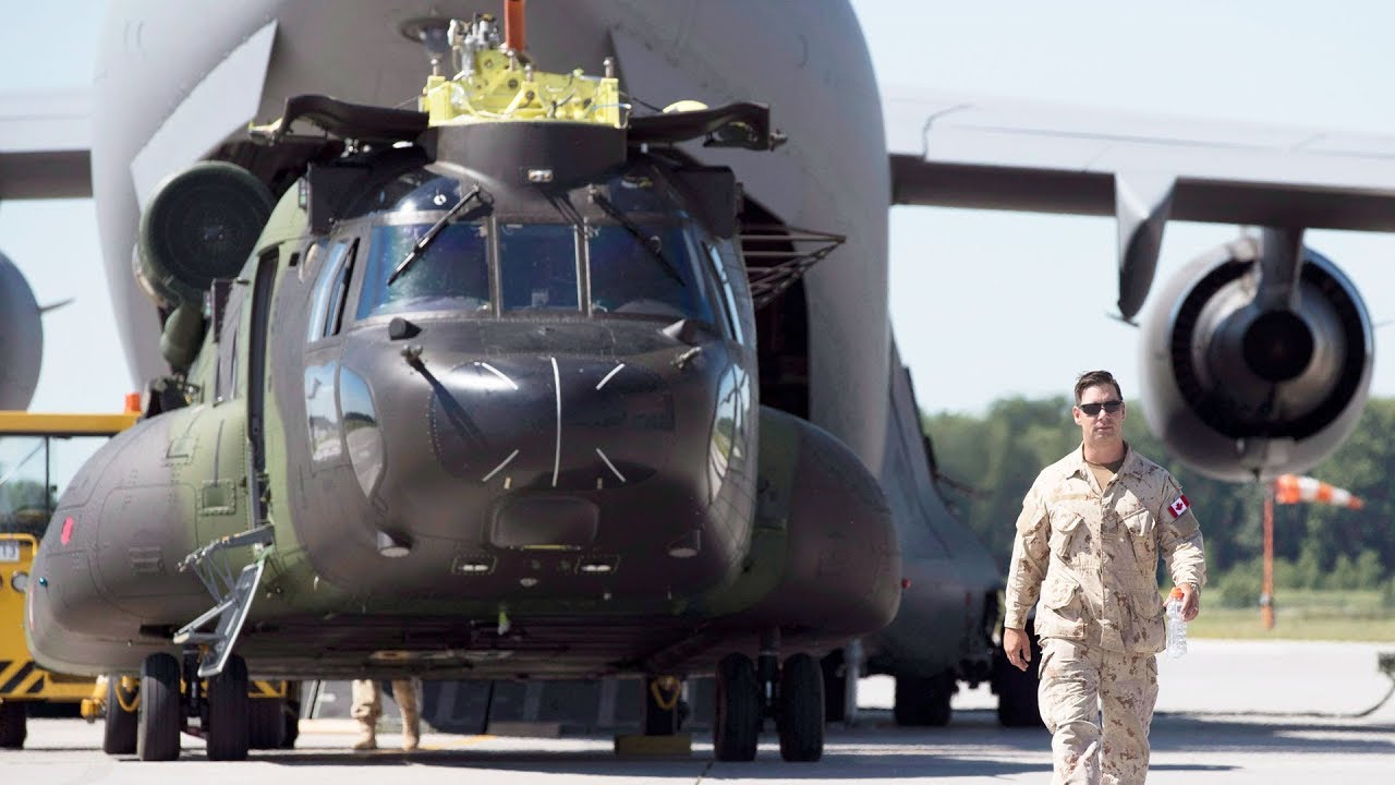 Canadian helicopters arrive in Mali for peacekeeping mission