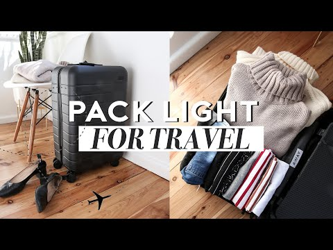HOW TO PACK LIGHT FOR TRAVEL: Tips for Taking a Carry On Suitcase Only/Minimal Packing Mademoiselle