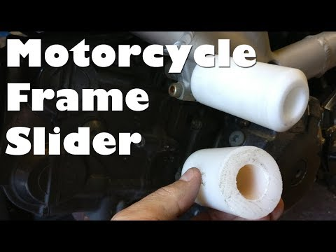 Making a New Motorcycle Frame Slider from Acetal on the Mini Lathe