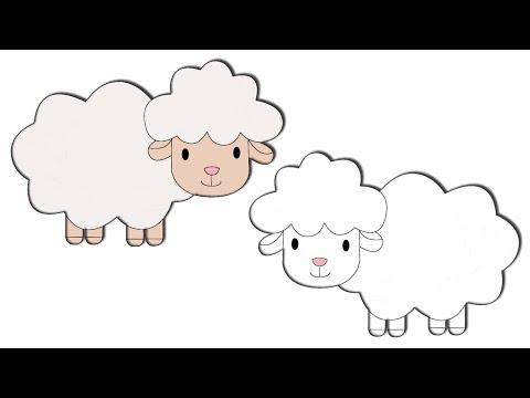 رسم خروف العيد بطريقة سهلة How To Draw A Sheep Youtube