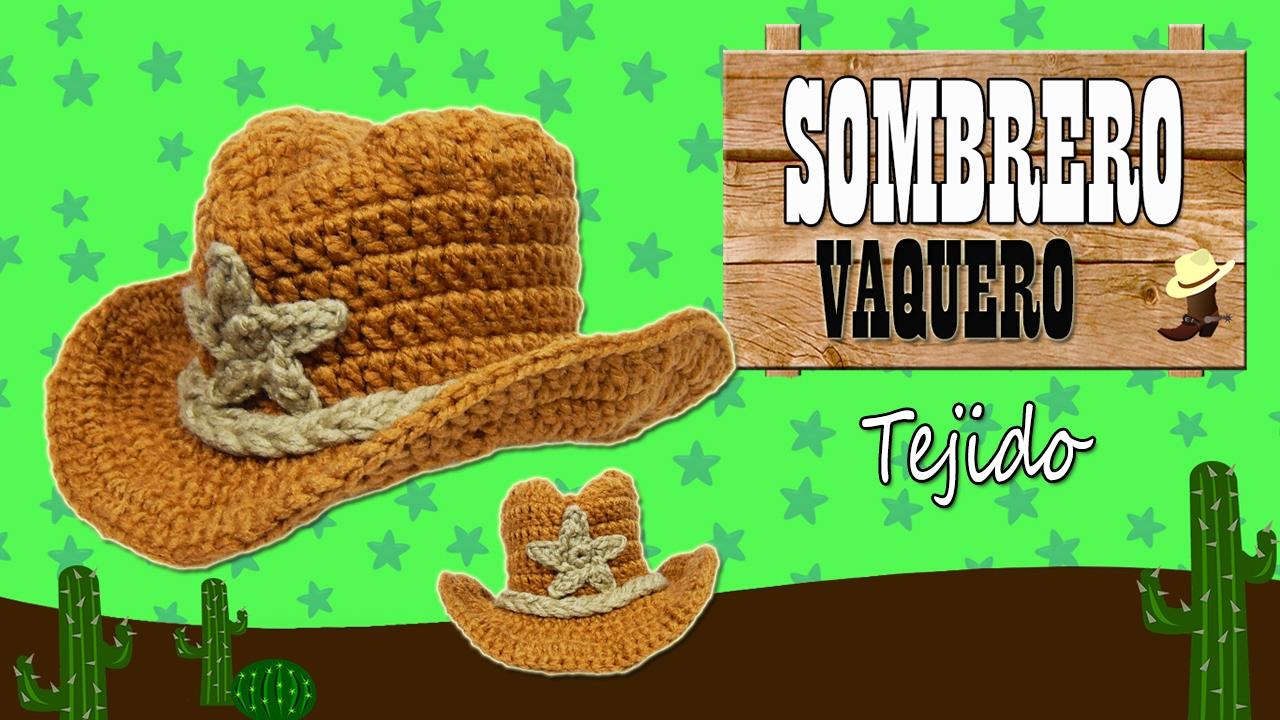 Sombrero Vaquero tejido a crochet | TODAS LAS TALLAS - YouTube