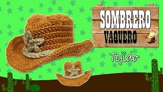 Sombrero Vaquero tejido a crochet  | TODAS LAS TALLAS