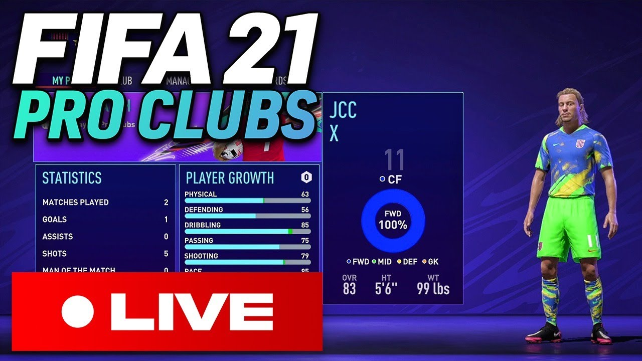? FIFA 21 PRO CLUBS LIVE - First Look!!!