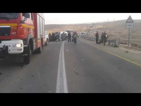 Traffic accident near Dimona