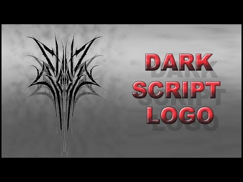 Как нарисовать дарк леттеринг лого How To Draw Metal Logo
