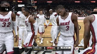 NBA 2015 - San Antonio Spurs vs Miami Heat - Post Highlights - NBA LIVE 15 PS4 - HD