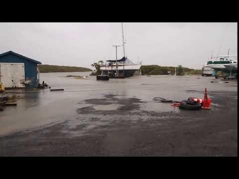 Thames Shortland wharf slipway sea flood