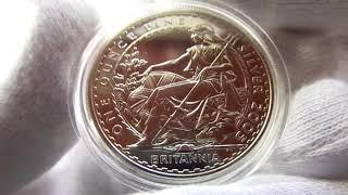 Серебряная монета Британия 2005 г.