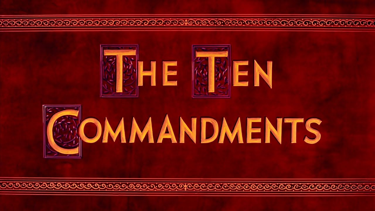 Movie The Ten Commandments Youtube