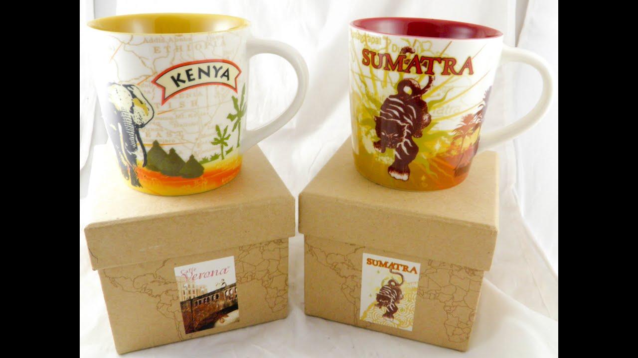 Sumatra Kenya Starbucks Mug Coffee Elephant Africa Cup
