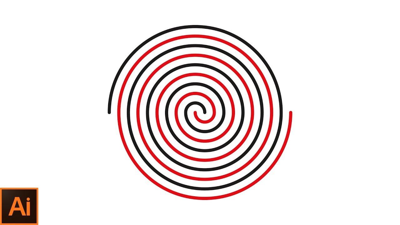 How to draw a perfect spiral in adobe illustrator Adobe Illustrator CC 2017  Tutorial