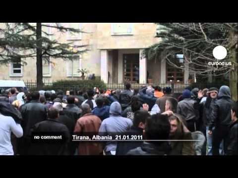 Clashes in Tirana, Albania - no comment