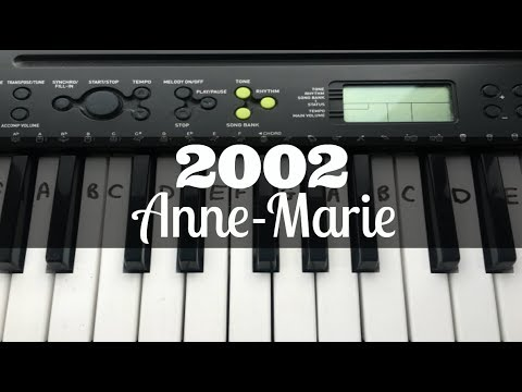2002 - Anne-Marie | Easy Keyboard Tutorial With Notes
