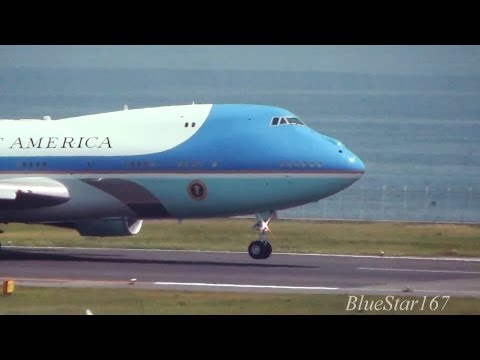 [Air Force One] Boeing VC-25 (92-9000) at HND/RJTT (Tokyo - Haneda)