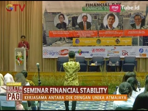 OJK Bersama Unika Atmajaya Menggelar Seminar Financial Stability di Jakarta - BIP 27/10