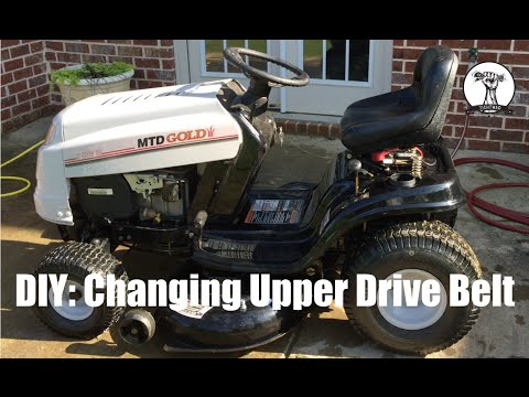 DIY How To Change The Upper Drive Belt On MTD Gold Lawn