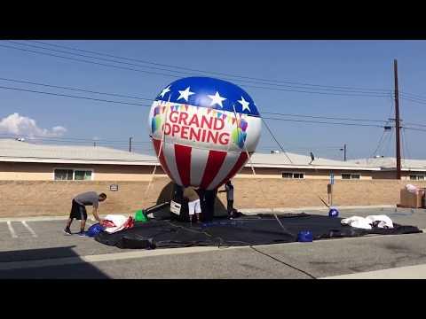 EZ Inflatables Advertising Balloon!--SUPER SATISFYING TIME LAPSE