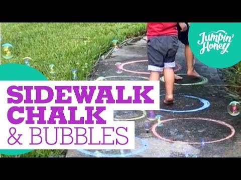 SIDEWALK CHALK and BUBBLES  Simple fun  DIY tutorial  ACTIVITIES FOR KIDS