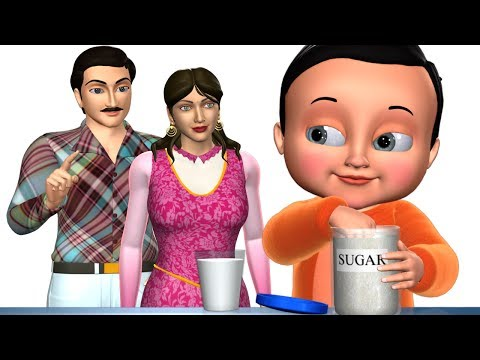 Thumbnail: Johny Johny Yes Papa Nursery Rhyme | Part 4 - 3D English Rhymes & Songs for Children