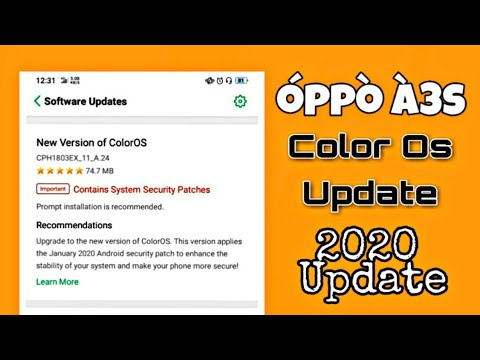 oppo a3s color os update 2020 | 2020 new color os update in oppo a3s | naveen tomar creation