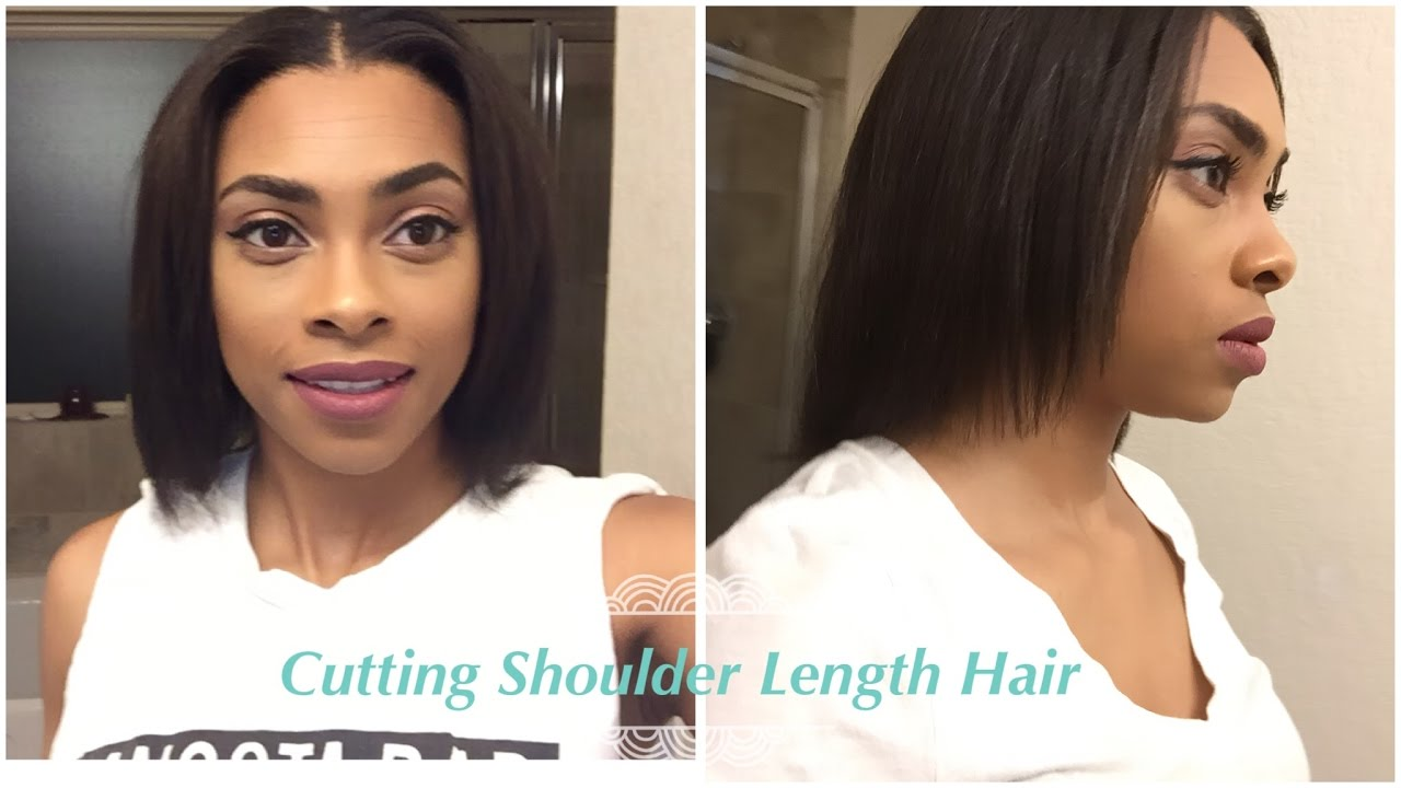 HOW I TRIM MY SHOULDER LENGTH HAIR Relaxed Hair Journey