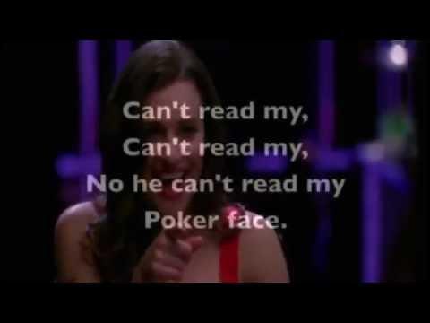 Poker face glee version karaoke