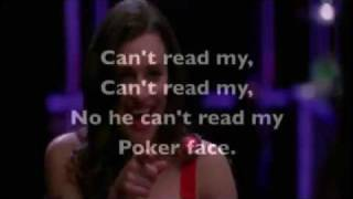 Poker Face de Rachel Berry Glee (Karaoke)