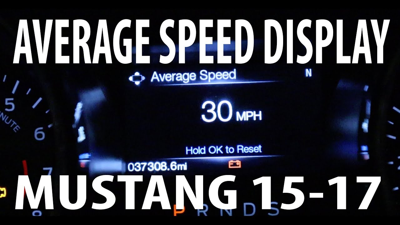 How to add Average speed display FORD MUSTANG 2015 - 2017 Forscan