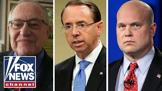 Dershowitz: Rosenstein more subject to recusal than Whitaker