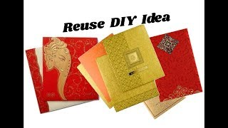 Reuse idea with wedding cards   Making Jhumkas