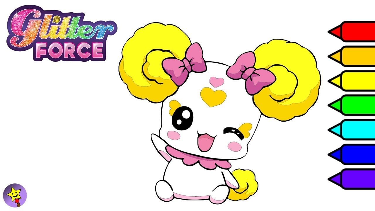 glitter force coloring pages Glitter Force Candy Coloring Book Page Smile PreCure Candy  glitter force coloring pages