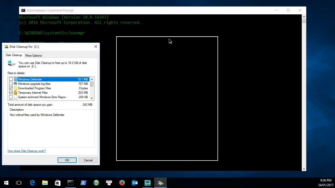 Microsoft Windows cleanmgr.exe command - YouTube