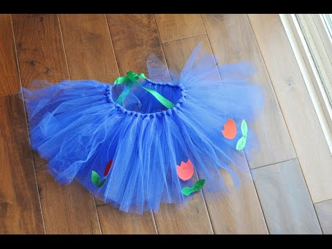 How To Tie Tulle For A No Sew Tutu