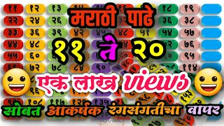 मराठी पाढे ११ ते २० | Multiplication tables in marathi 11 to 20 | Marathi Padhe | marathi tables