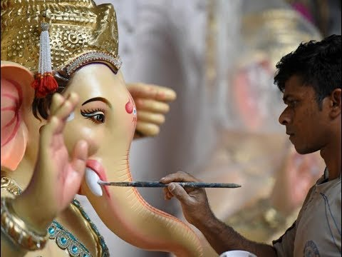 Artists at work Ganesha idols in the making  Sanaswadi pune