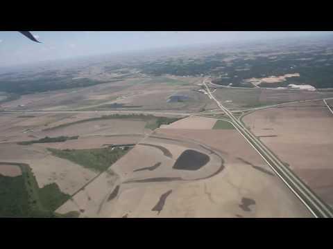 Long taxi and takeoff from Omaha's Eppley Airfield - Nebraska