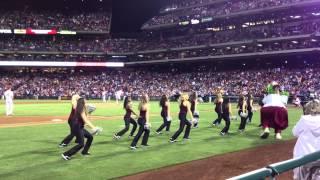 sju dance team phillies game performance