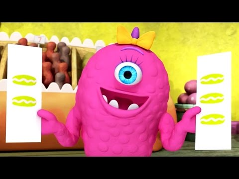 Monster Math Squad | FULL EPISODE COMPILATION | Picky Eater's Picnic A Muffin Mystery Who's on First
