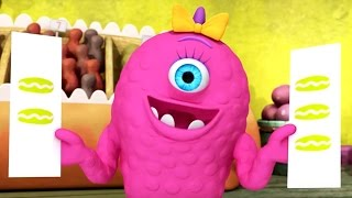 monster math squad full episode compilation   picky eater s picnic a muffin mystery who s on first