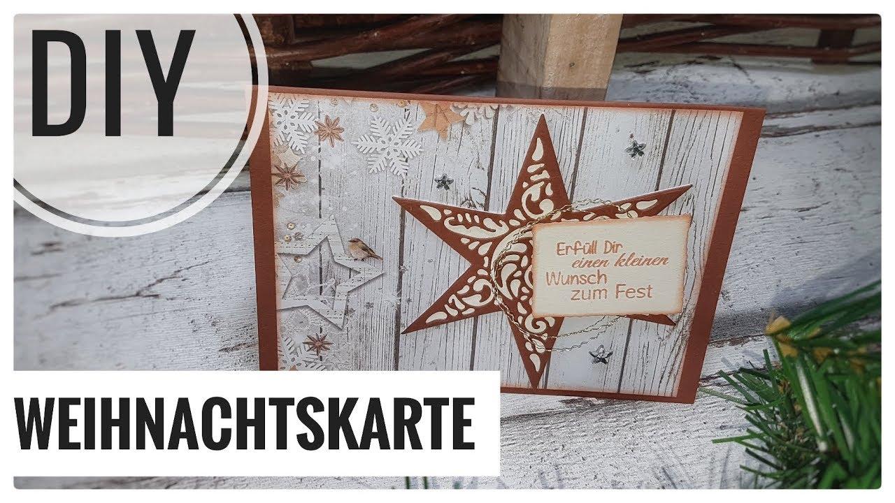 Weihnachtskarten Mit Sternen Basteln.Weihnachtskarten Karte Filigraner Stern Selberbasteln Diy Idee Kartenbasteln Tutorial Deutsch