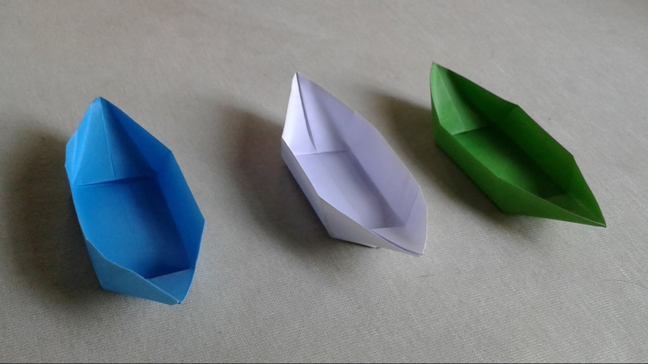 how to make a paper boat that floats in water for kids origami paper